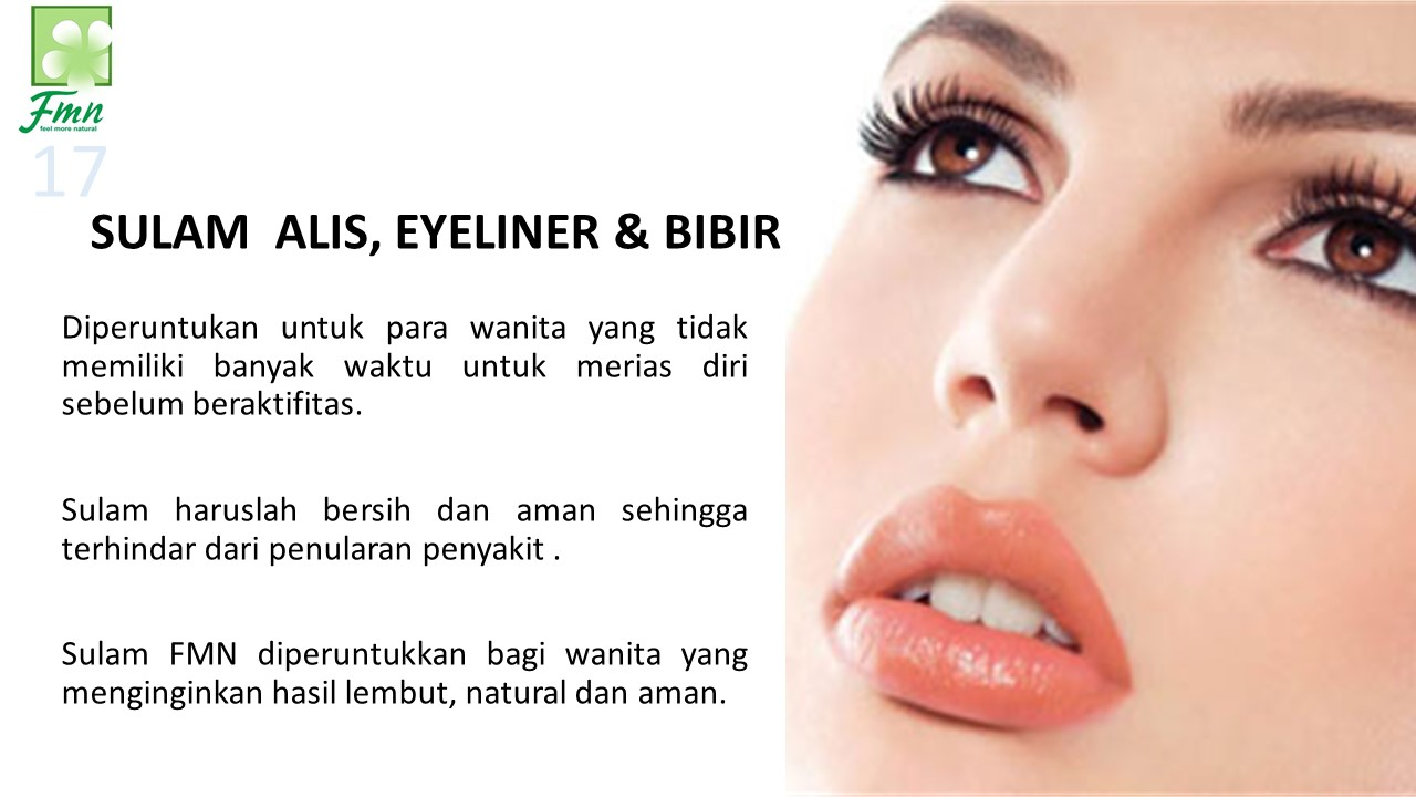 Sulam Alis, Eyeliner Bibir